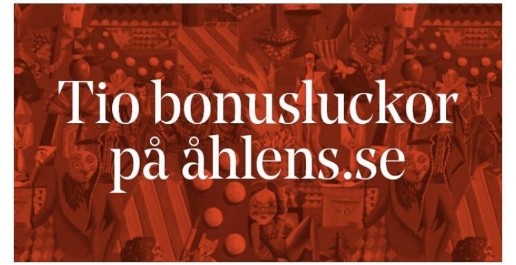 Bonusluckor på Åhléns