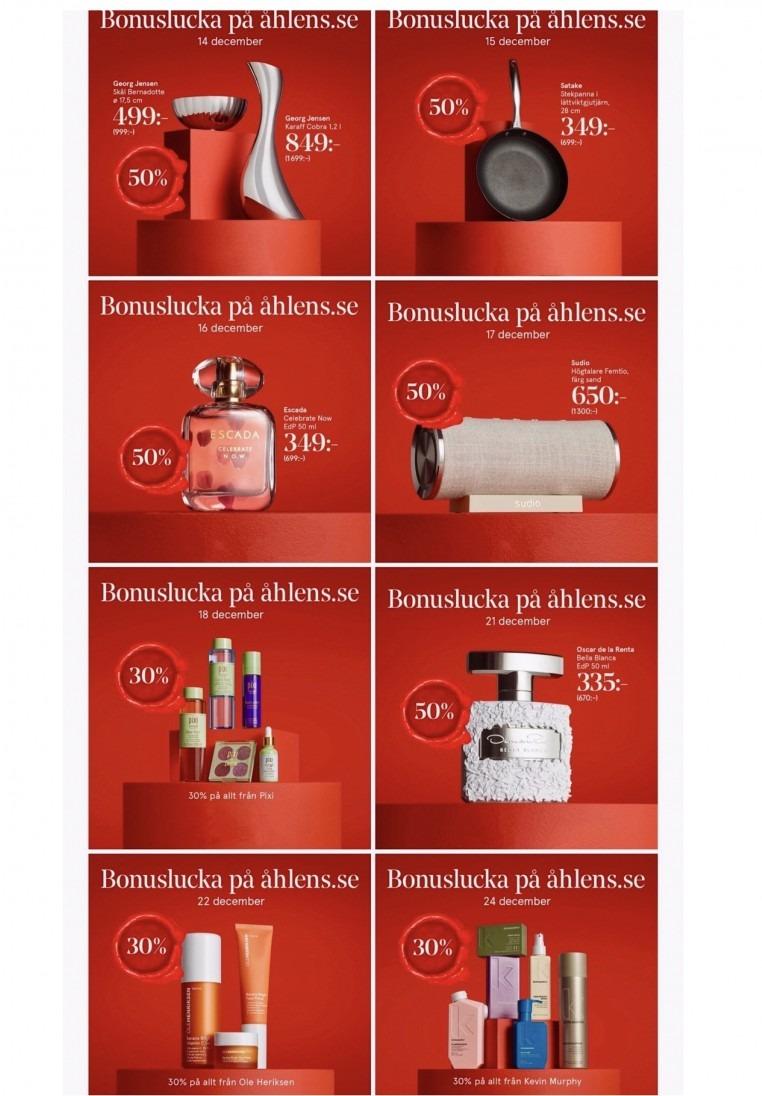 Bonusluckor Åhléns julkalender