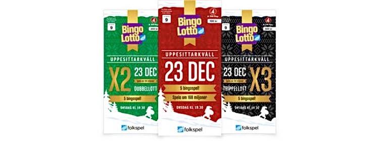 Bingolotto uppesittarkväll lotter